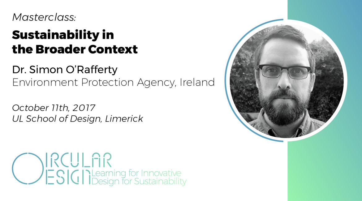 Masterclass on 'Sustainability in the Broader Context' by Simon O'Rafferty, EPA Ireland