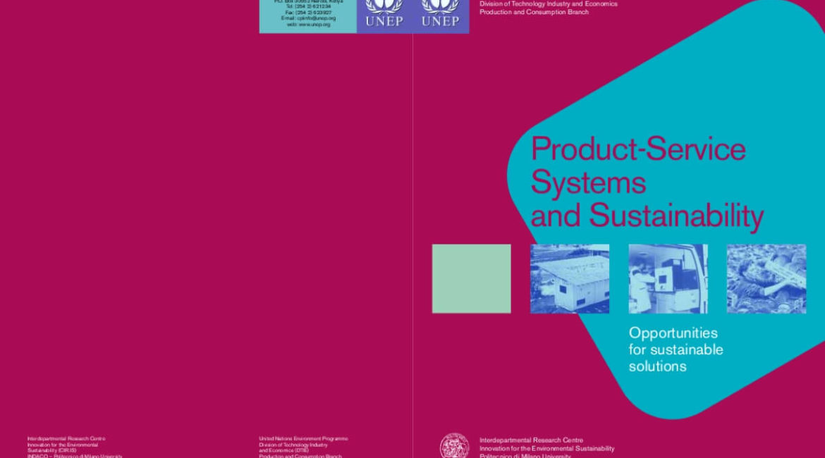 Product-Service Systems and Sustainability: Opportunities for Sustainable Solutions