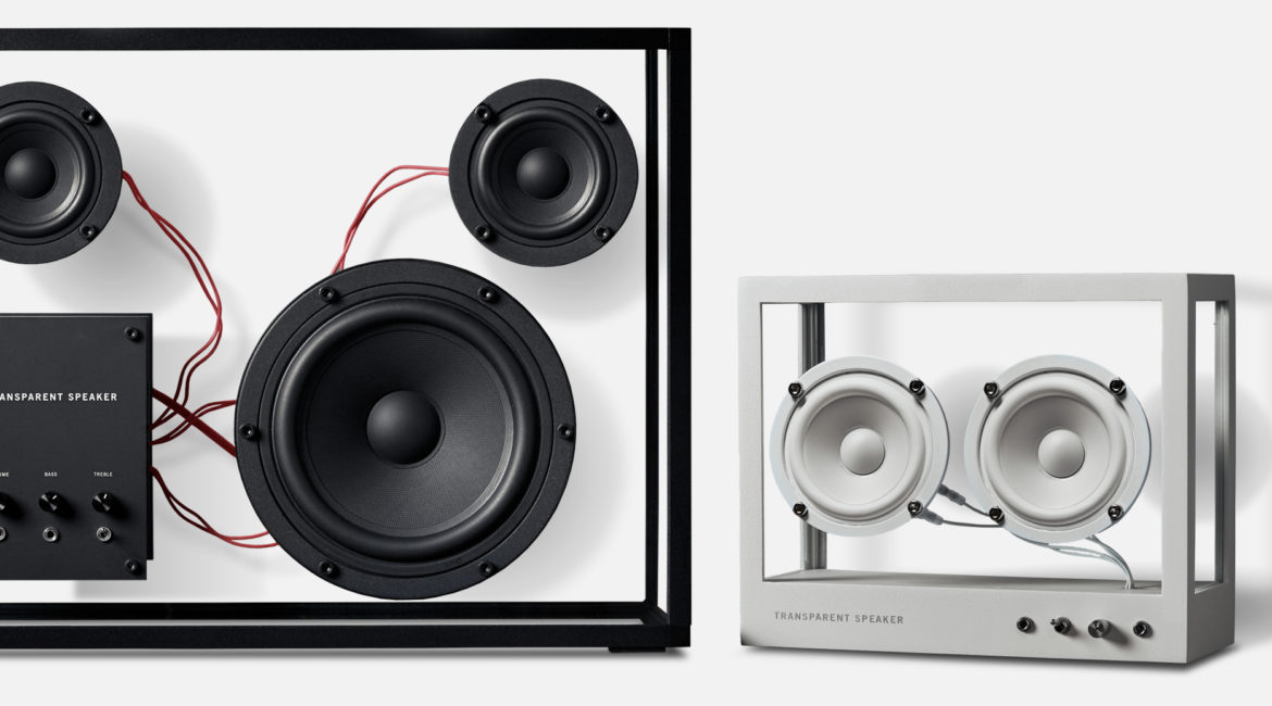 The Transparent Speaker, a circular design case study about a modular speaker designed in Sweden