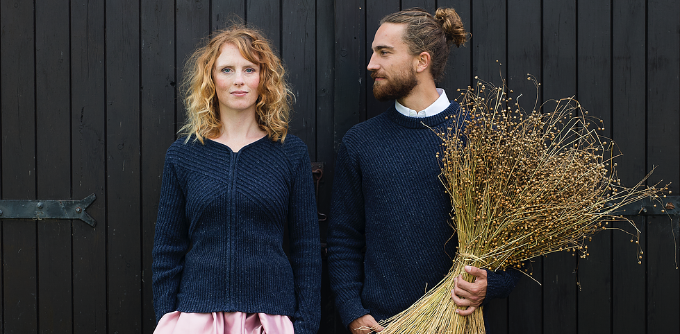 The 6th case study: Frisian, a sweater inspired in the heritage of Fryslân and made from recycled wool.